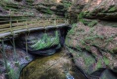 Les sorcières Gulch est une attraction cachée dans des vallons du Wisconsin et peut Photos stock