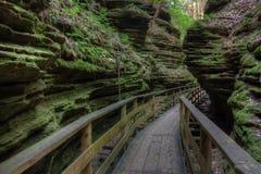 Les sorcières Gulch est une attraction cachée dans des vallons du Wisconsin et peut Photos libres de droits