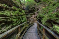 Les sorcières Gulch est une attraction cachée dans des vallons du Wisconsin et peut Photo libre de droits