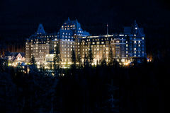 Les sources de Fairmont Banff Images stock