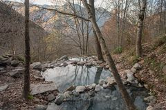 Les sources sulfureuses of Merens-les-vals, France. royalty free stock images