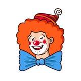 Les sourires aimables de clown Illustration illustration de vecteur