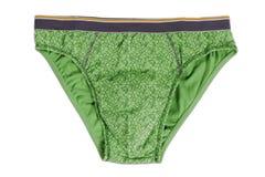 Les sous-vêtements d'homme vert Photo libre de droits