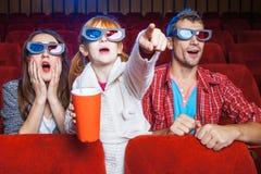 Les spectateurs dans le cinéma Images libres de droits
