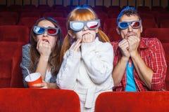 Les spectateurs dans le cinéma Photo libre de droits