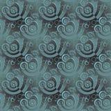 Les spirales régulières modèlent le gris vert pâle recouvrant changeant brouillé Photos stock