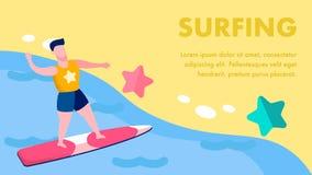 Les sports aquatiques extrêmes dirigent à plat le calibre de bannière illustration libre de droits