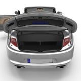 Les sports convertibles nettoient le tronc vide d'isolement sur un blanc illustration 3D illustration de vecteur