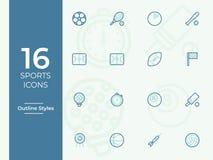 Les sports dirigent l'icône, symbole de sports Moderne, icônes de vecteur d'ensemble illustration de vecteur