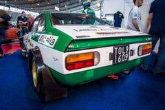 Les sports et la voiture Lancia Beta Coupe The 1800 de rassemblement rassemblent le type 828, 1975 du groupe 4 Photographie stock libre de droits