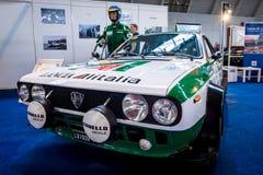 Les sports et la voiture Lancia Beta Coupe The 1800 de rassemblement rassemblent le type 828, 1975 du groupe 4 Image stock
