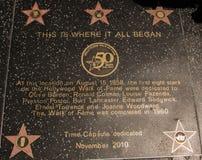 Les stars d'Hollywood ceci est où tous ont commencé Image libre de droits