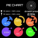 Les statistiques avec un vecteur circulaire diagram, zone de pourcentage de la cannelure illustration stock