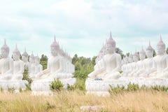 Les statues de Bouddha sont dans le temple Image libre de droits