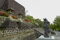 Les statues de dragon dans Kiyomizu-dera, formellement Otowa-San Kiyomizu-dera, est un temple bouddhiste ind?pendant ? Kyoto orie image stock