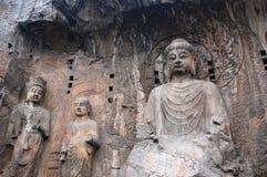 Les statues en pierre bouddhistes Images stock