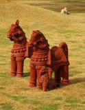 Les statues et vivent Image libre de droits