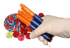 Stylos et sucrerie diabétiques d'insuline Images stock