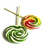 Les sucreries colorées et modelées, sucreries colorées d'amusement pour des enfants aiment le sucre écrit, ont coloré et ont mode Image stock
