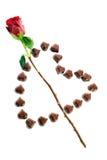 Les sucreries de chocolat et se sont levées Image libre de droits