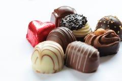 Les sucreries de chocolat se ferment vers le haut photos libres de droits