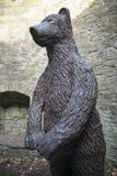 Les sud Yorkshi de Pit Sculpture Sheffield Botanical Gardens d'ours images stock