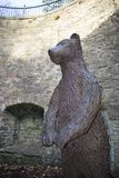 Les sud Yorkshi de Pit Sculpture Sheffield Botanical Gardens d'ours Photos libres de droits