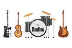 Les sujets de bande de Beatles Photographie stock libre de droits
