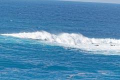 Les surfers ondulent outre de la côte de Ténérife, Espagne Photo stock