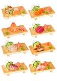 Les sushi ont placé 2 Photos libres de droits