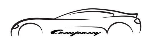 Les symboles de voiture silhouettent l'icône de vecteur de logo de véhicule de marchand de société automobile Photographie stock libre de droits