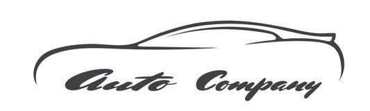 Les symboles de voiture silhouettent l'icône de vecteur de logo de véhicule de marchand de société automobile Images stock