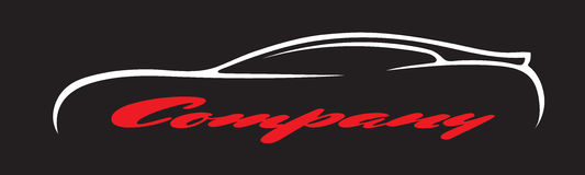 Les symboles de voiture silhouettent l'icône de vecteur de logo de véhicule de marchand de société automobile Photo libre de droits