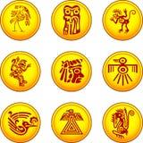 les symboles des Indiens d'Amerique illustration stock