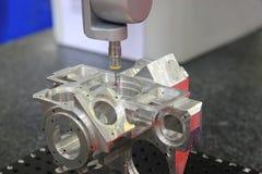 Les systèmes et la surface d'inspection dimensionnels finissent en métal Photographie stock