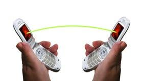 Les téléphones portables se connectent. Photographie stock libre de droits