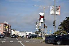 Les têtes de wagon-restaurant de chienchien sont un point de repère de San Francisco, 2 photos libres de droits