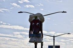 Les têtes de wagon-restaurant de chienchien sont un point de repère de San Francisco, 1 images libres de droits