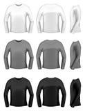 Les t-merdes des hommes avec de longues chemises Photo libre de droits