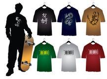 Les T-shirts des hommes Images libres de droits