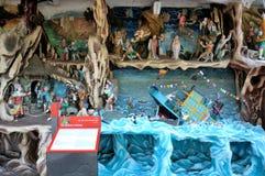 Les tableaux reconnaissants de tortue à la baie d'aubépine Par la villa à Singapour images libres de droits