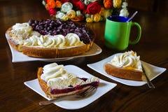 Les tartes de Limburgian se sont préparées à une réception Photo stock