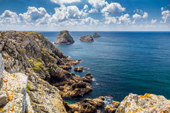 Les Tas de Pois, Pointe de Pen-Hir, Crozon Peninsula, Brittany, Royalty Free Stock Image