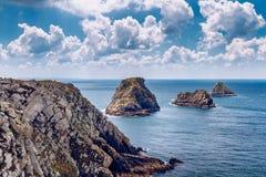 Les Tas de Pois, Pointe de Pen-Hir, Crozon Peninsula, Brittany, Stock Images