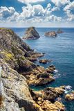Les Tas de Pois, Pointe de Pen-Hir, Crozon Peninsula, Brittany, Royalty Free Stock Images