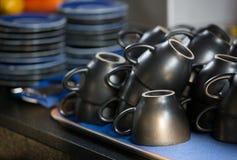 Tasses de café vides Photographie stock libre de droits
