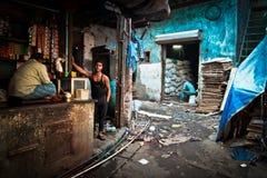 Les taudis de Dharavi de Mumbai, Inde photographie stock libre de droits