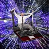 Les technologies innovatrices de l'ordinateur le plus neuf Images stock