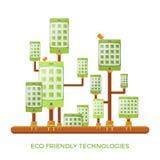 Les technologies vertes écologiques d'instrument dirigent le concept dans le style plat Photographie stock