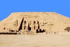 Les temples d'Abu Simbel Images libres de droits